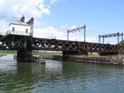 Norwalk River Railroad Bridge Connecticut