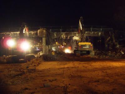The complete demolition of one bridge and the partial demolition of five others on Colorado's U.S. 6 were done in 72 hours.