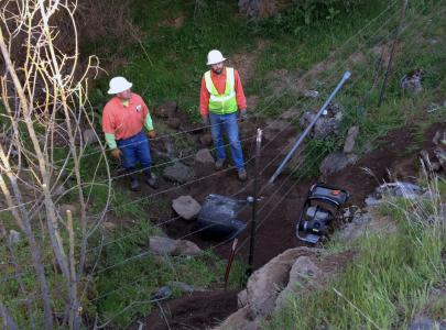 The Madera County Road Department opted for slip-lining over dig and replace due largely to the depth of fill over the culvert and limited options for rerouting of traffic.