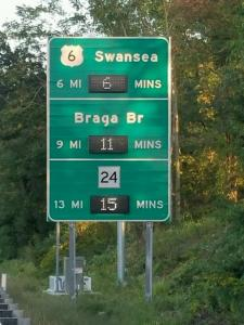 The Massachusetts Department of Transportation's (MassDOT) new traffic signs