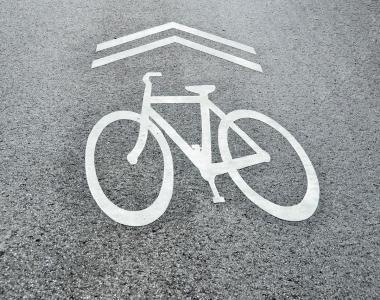 bicycle and transit lane