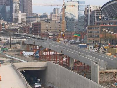 A new bridge that will carry traffic from State Route 99 into Seattle is designed to survive earthquakes and seismic shocks.