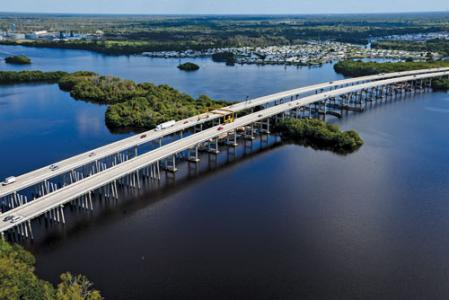 The I-75 Caloosahatchee River Bridge Widening project