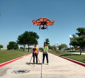 UAV-CRP technology comprised of DSLR camera