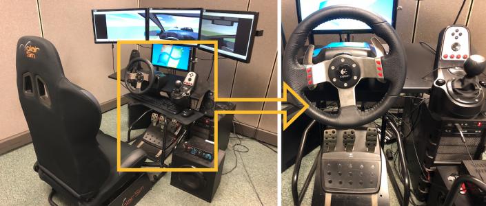 Figure 1. Virtual reality based driving simulator