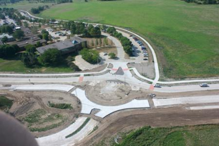 Foth proposed the first use of roundabouts in Iowa, rather than traditional signalized intersections.
