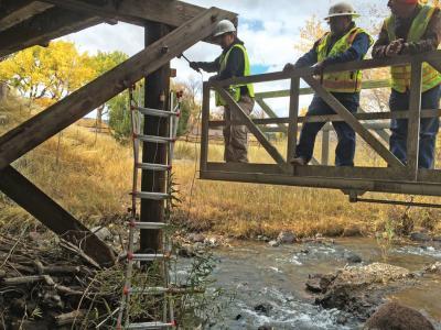 Nondestructive evaluation of bridge foundations to plug NBI data void