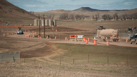 A truck bypass on the west side of Killdeer, N.D., was a project aimed at improving traffic flow and safety.