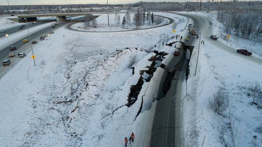 Alaska quake damage
