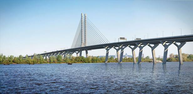 New Champlain Bridge over the St. Lawrence River