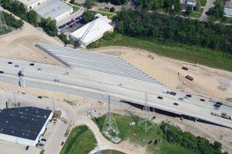 Zoo Interchange skewed bridge
