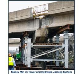 Mabey Mat 75/125 towers and hydraulic jacking systems