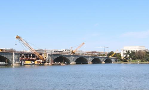 Arlington Memorial Bridge - a structurally deficient bridge in need of repair