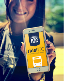 rideRTC transit app