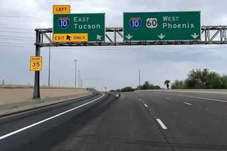 U.S. 60 exit to I-10 in Tempe, Ariz.