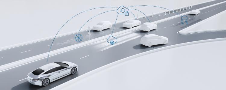 Bosch road condition alert service