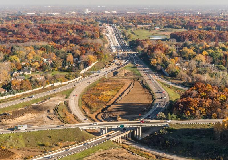 Modernize 75 highway construction Michigan