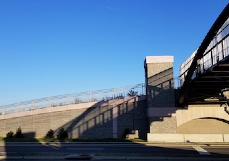 MSE walls for Virginia pedestrian bridge