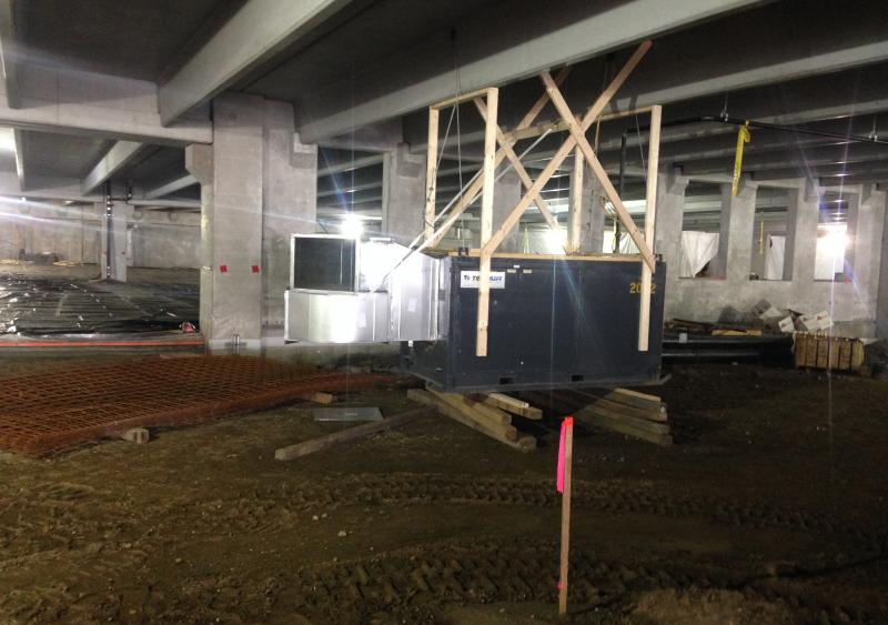Construction underway at the MGM Springfield garage