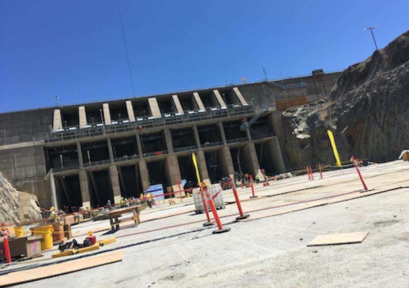 Oroville, California dam emergency repairs