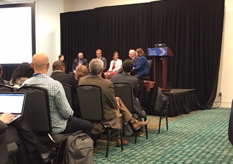 Leaders from both transit agencies and transportation network companies were on-hand at the APTA Annual Meeting to discuss present and future operations