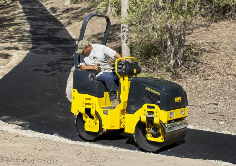 BOMAG's BW 900-50 is the company's latest generation 1-1.5 ton ride-on roller