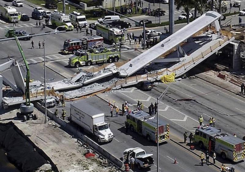 Florida International University bridge collapse in Miami