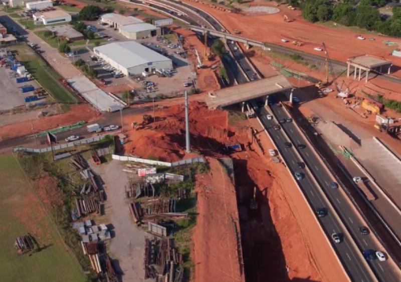I-235 highway widening and bridge project Oklahoma City