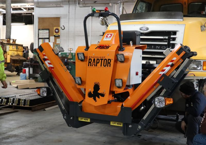 PennDOT added RAPTOR Rumble Strip Handling Machine to its fleet of equipment