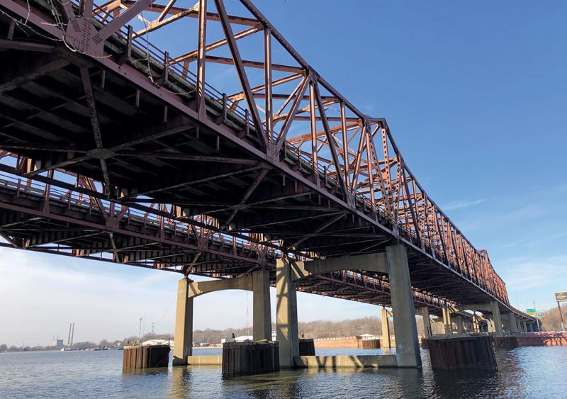 I-80 bridges over Des Plaines River, Joliet, Illinois