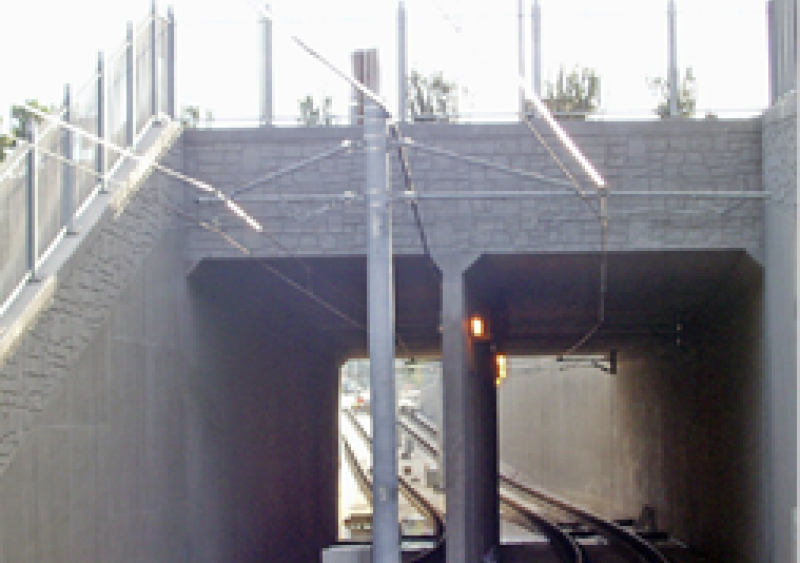 underpass at La Jolla Colony Drive in San Diego