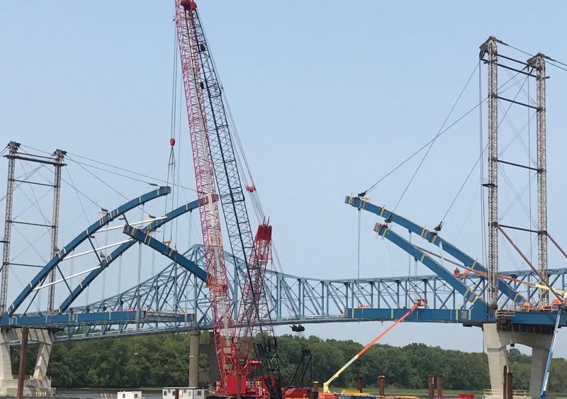 crawler crane U.S. 52 bridge