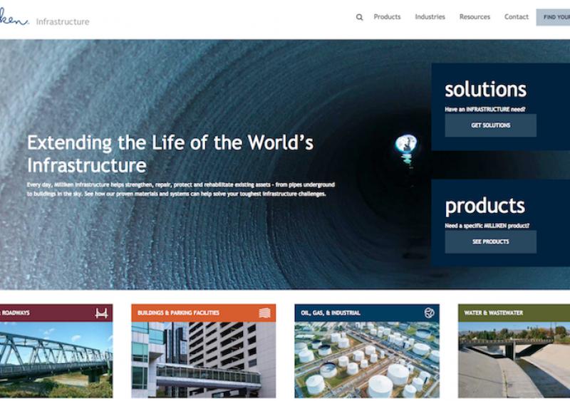 Milliken Infrastructure new website