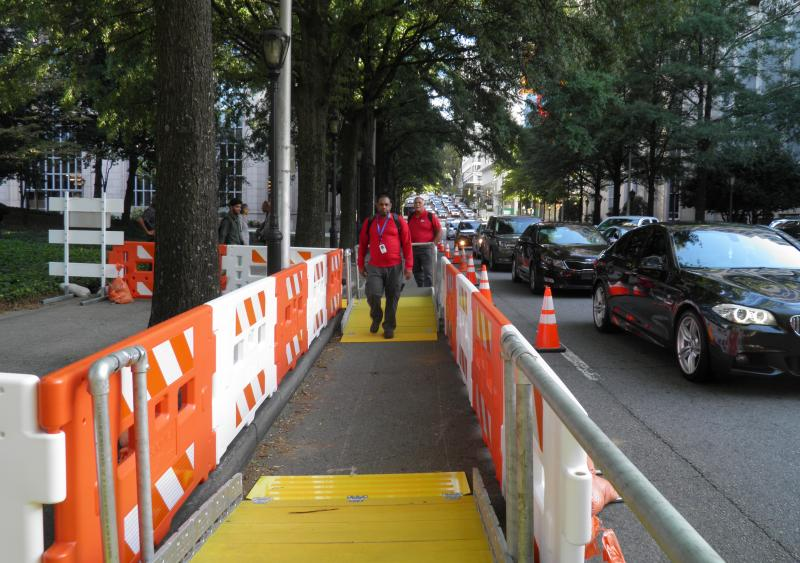 Peachtree Street accessible work zone demo