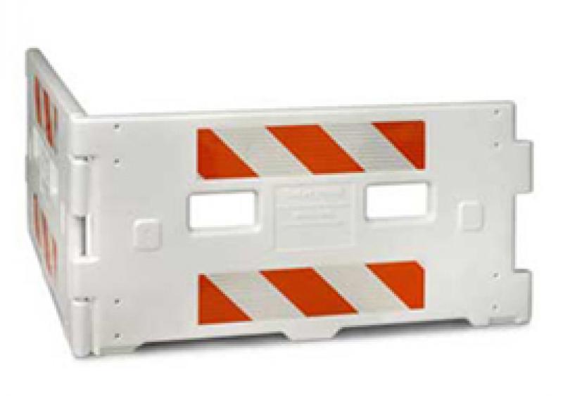 SafetyWall ADA-compliant pedestrian barricade