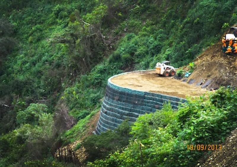 Geogrid conquers mountainside challenges in Colombia