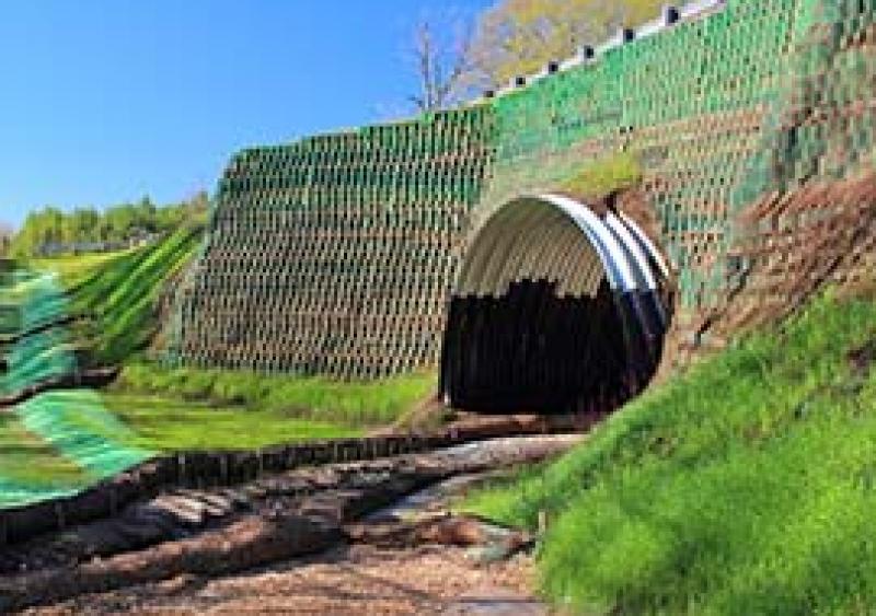 StrataWeb geogrid-reinforced soil system (GRSS)
