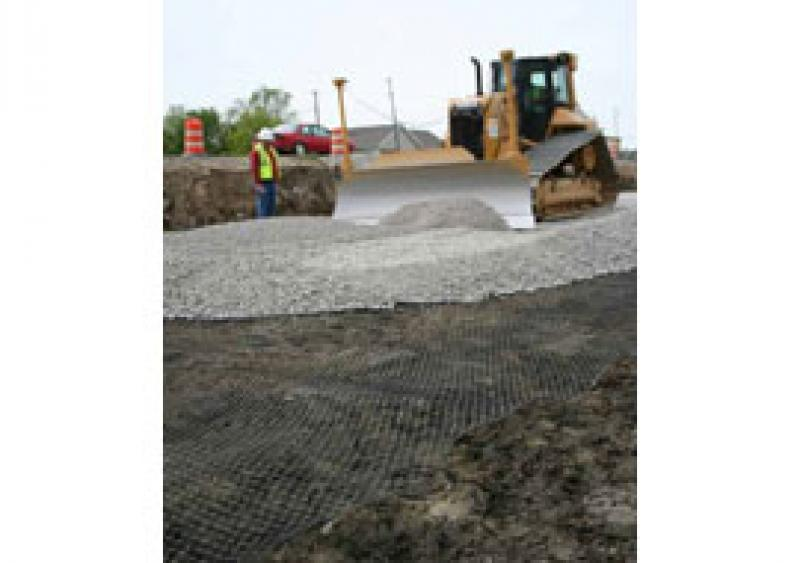 The Spectra Roadway Improvement System featuring TriAx Geogrid