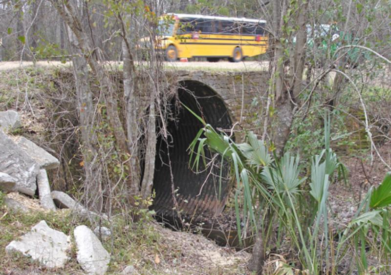The culvert under SR 16 was rusting and failing
