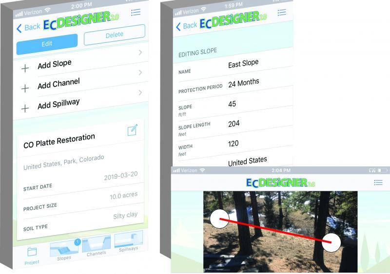 East Coast Erosion Control EC Designer mobile app