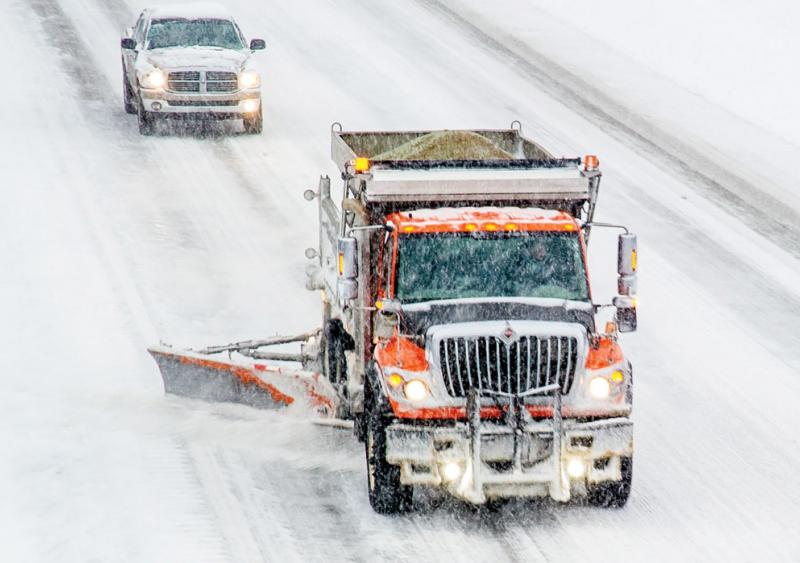 Michigan DOT makes wing plows more visible to motorists during heavy winter conditions