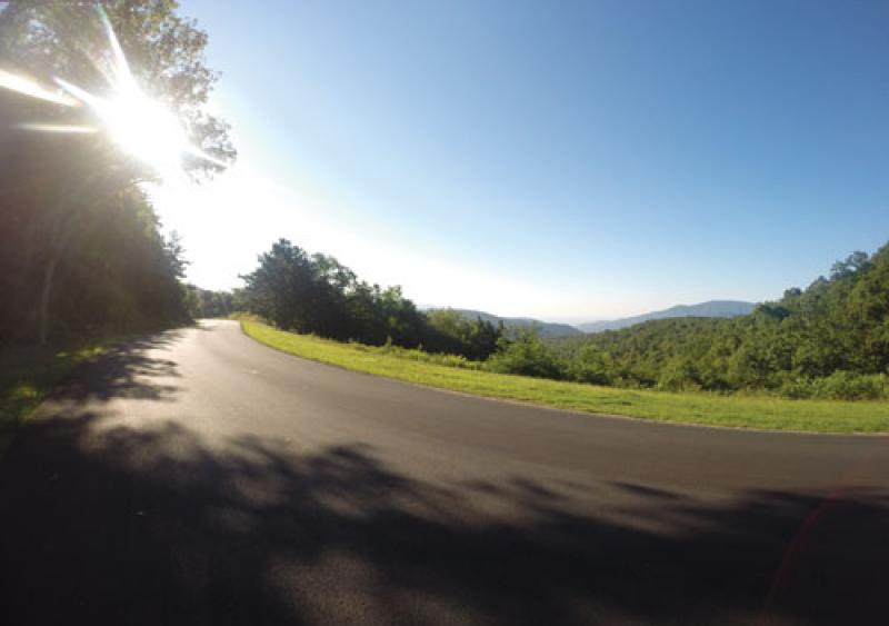 The Blue Ridge Parkway is a scenic highway set high in the mountains of Virginia and North Carolina.