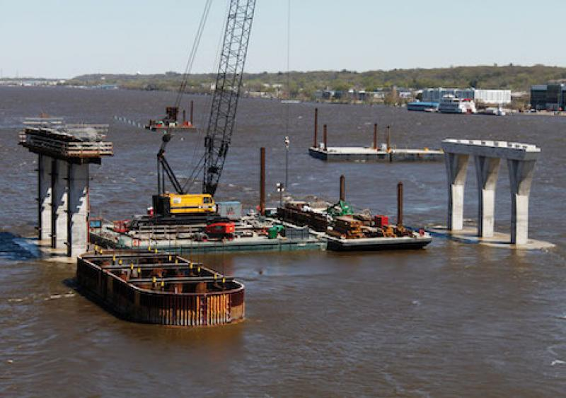 Swift currents in the Mississippi River have made in-water work a contentious endeavor for crew members.