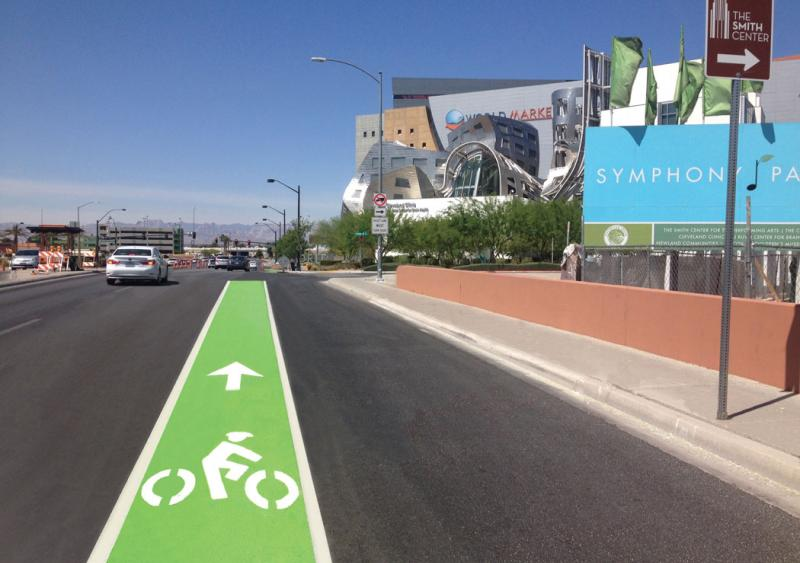 Developing green bicycle lane treatments to increase visibility and reduce safety risks