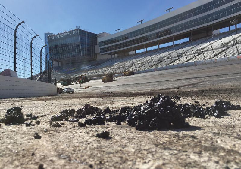 Crews repave Texas Motor Speedway the right way