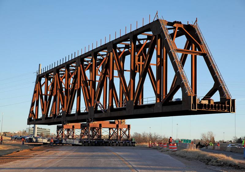 Oklahoma City I-235 BNSF rail bridge