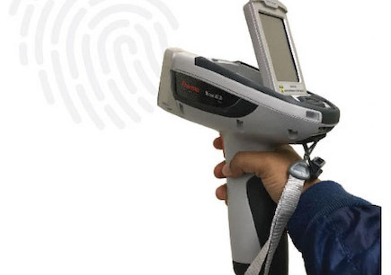 Using the handheld XRF instrument makes it possible to check the binder quality on the jobsite, which is a more efficient process than testing in the lab because using the benchtop XRF takes more time.