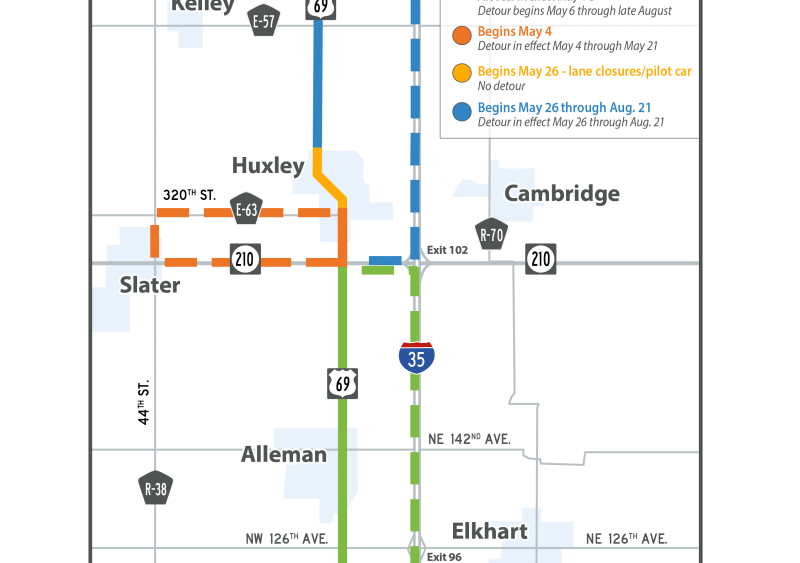 U.S. 69, a major route in Iowa, undergoes extensive reclamation and resurfacing