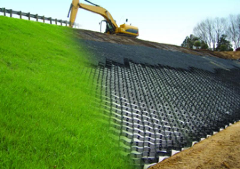 the Geoweb slope protection system