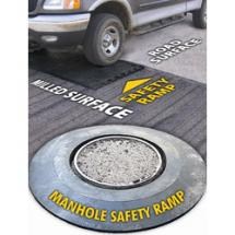 Rubber safety ramps